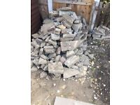 Free Hardcore, Free Rubble broken bricks , Crazy Paving