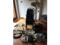 Bugaboo Cameleon in Sand and Black with all accessories