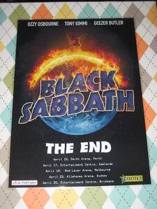 Black Sabbath - 2016 Australian Tour - Laminated Promo Tour Poster