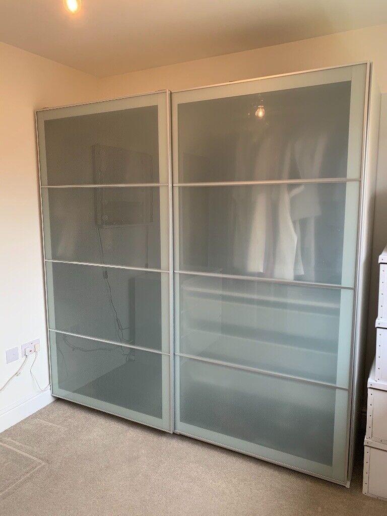 Ikea Pax Wardrobe With Sliding Doors Lights In Inverkip Inverclyde Gumtree