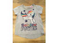 9-12 months baby girls clothes - Next Rainbow Power t shirt