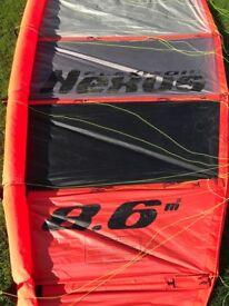 Nexus Flexfoil 8.6m2 kite & Kite Surfing Board