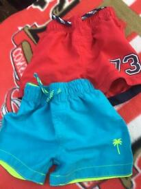 Baby boys swim shorts 12-18 months