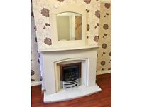 2 or 1 Marble gas fire place