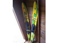 Unisex Jet Ryder Jet Stream Water Skis. Used Once