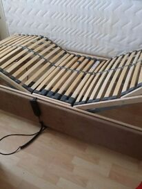 Single Electric Adjustable bed with memory mattress