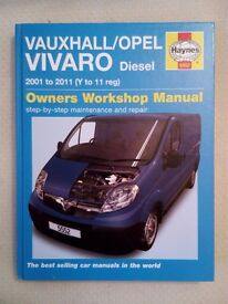 Haynes Workshop Manual 5552 Vauxhall Vivaro Diesel 2001 to 2011 (Y to 11 reg)