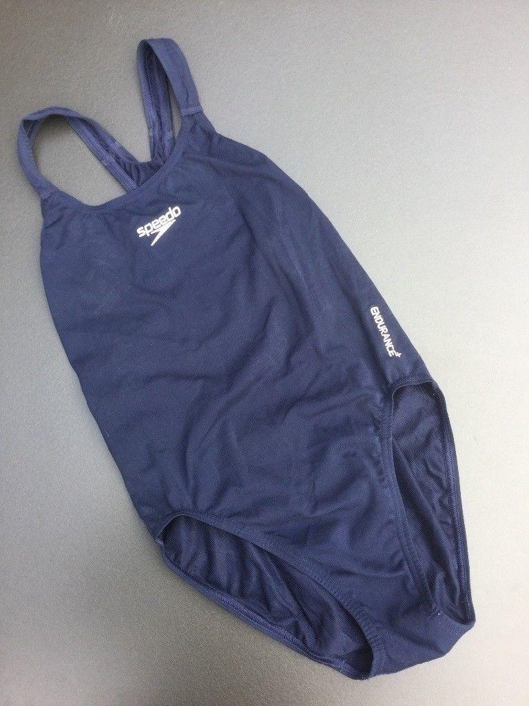Girls Navy Blue Swimming Costume Swim Suit By Speedo Endurance