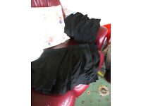 BOYS LONG LEG BLACK ADJUSTABLE WAIST SCHOOL TROUSERS + 1 PAIR OF COMBI SCHOOL SHORTSSIZE 8/9 YRS