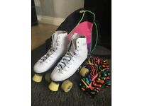 Quad skates/roller boots Cosmic white