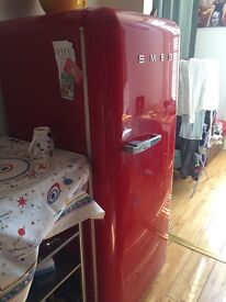 Smeg red fridge good working condition