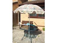 Parasol - flower print - Good condition (sorry, no separate base)