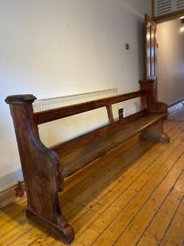 Church bench pew
