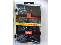 3 boxes of assorted screws and bolts