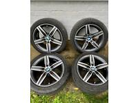 "BMW 17"" Alloys Diamond Cut & Tyres (See description)"