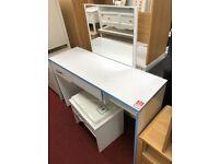 white gloss dressing table