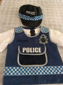 Police officer dress up top and hat - aged 3-5