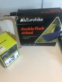 Double Flock air bed by Eurohike plus a gelert air bed pump