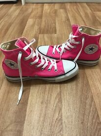 Women's Pink Converse All Star Hi Top Trainers!
