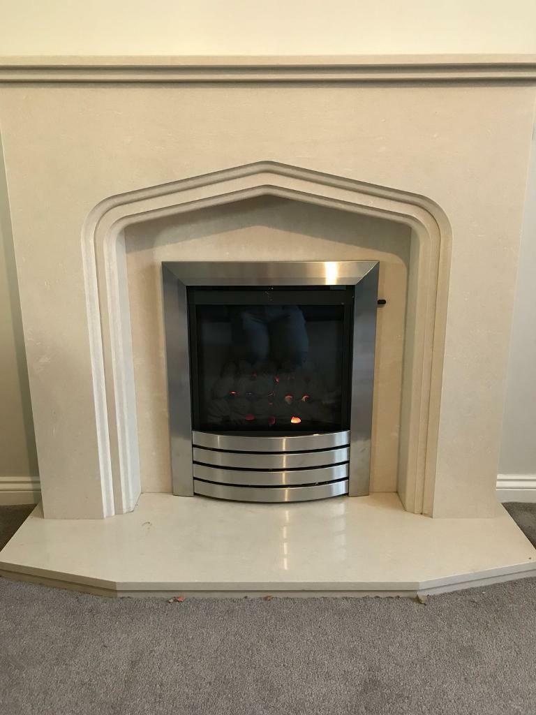 Solid Marble Fire Surround Fire Not Included In Stanley County Durham Gumtree