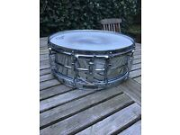 Ludwig Chrome on Brass snare drum