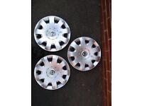 3 Skoda Wheel Trims 15inch at £4 each