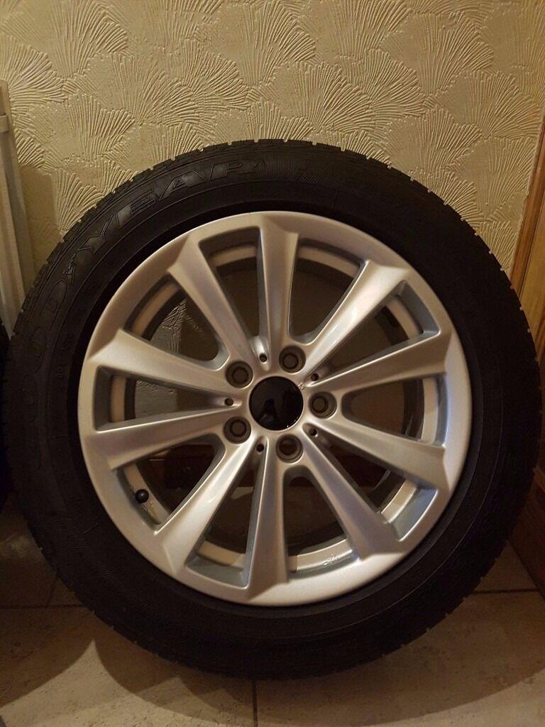4 set bmw 5 series f10 wheels goodyear run flat tyres. Black Bedroom Furniture Sets. Home Design Ideas