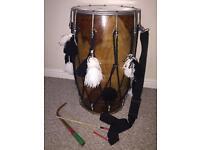 Dhol Indian Instrument Talli wood