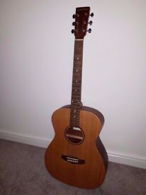 Tanglewood electro-acoustic guitar with built in tuner!
