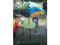 Kids Toy Story Patio Table and Chair's