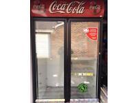 Double door glass fridge great condition