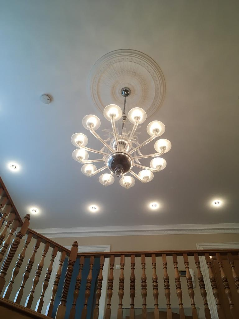 Gorgeous Murano crystal chandelier and wall lights | in Ponteland ...