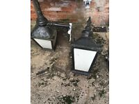 Vintage old bass pub lanterns