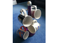 Retro Cups and a Mug Stand