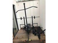 Adidas Essential Elite Station Workout Station & Dumbell/Barbell Set