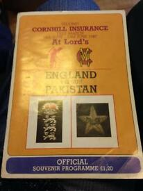 England v Pakingstan
