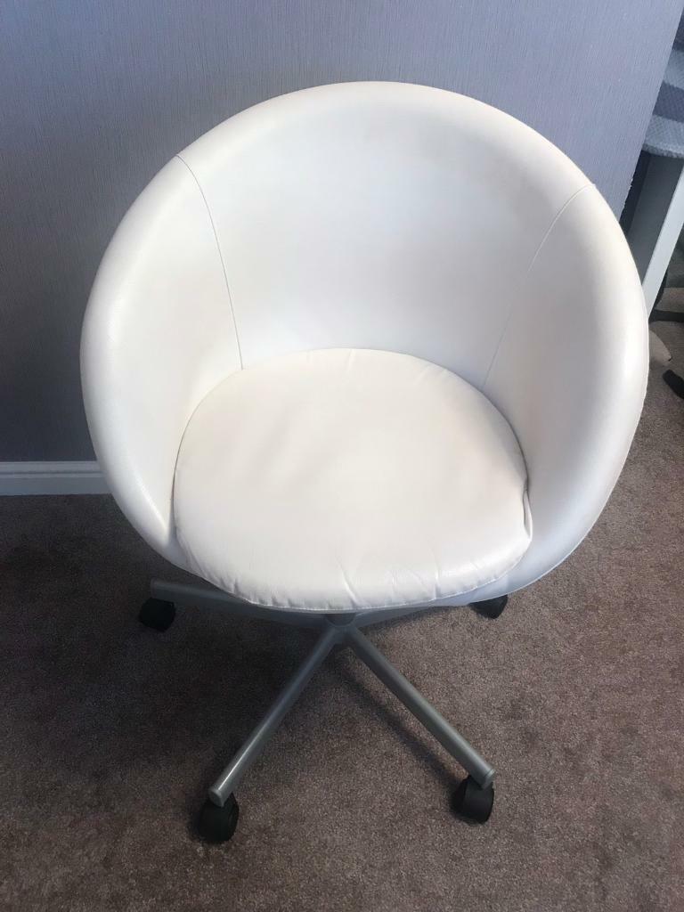 Ikea Office Chair White On Wheels In Bradford West Yorkshire Gumtree