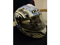 MOTORCYCLE HELMET - HFC KARLIE - Brand NEW Size XS 54 – (Blue/White/Black) with Bag
