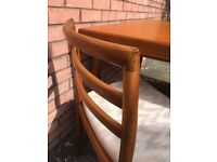 retro/vintage teak dining table and 6 chairs