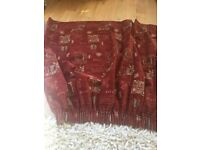 Fabulous heavy red inlaid res curtains