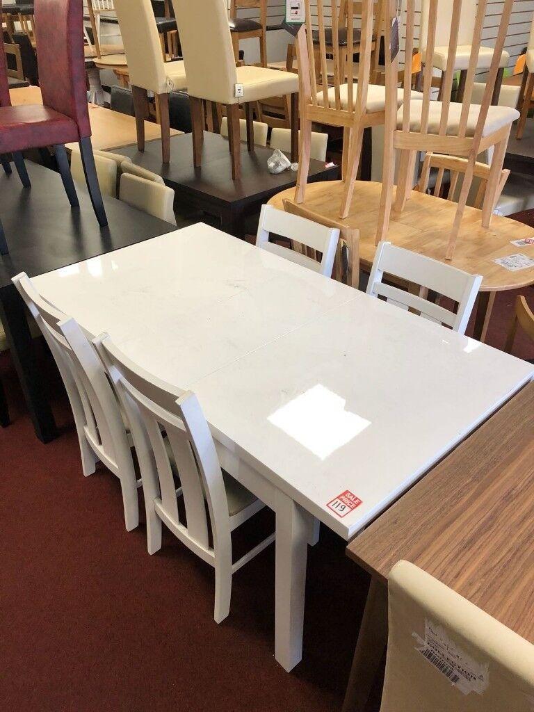 aston solid oak hidden. Hygena Lyssa White Gloss Extendable Table And 4 Solid Wood Chairs - Aston Oak Hidden T