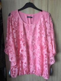 Lady's tops size 18 worn once or not at all 8.00 each