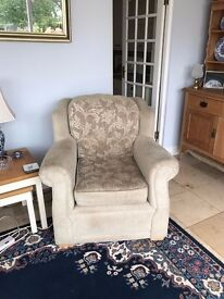Two seater sofa & two armchairs