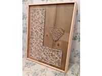 Handmade crafts String Art Picture Letter L