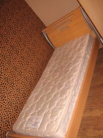 SINGLE BED AND MATCHING TREBBLE WARDROBE
