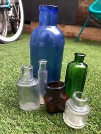 Glass Vintage Bottles