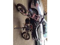 110cc clutch pit bike