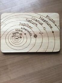 Hand personalised wooden chopping board