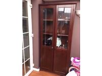 5 Tier Sturdy Solid WoodenPartly Visible Cupboard Cabinet 85cm wide x 190cm tall x 35cm deep