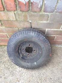 Trailer wheel with very good tyre